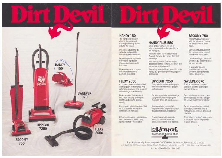 Dirt Devil Brand In Uk Now Dead